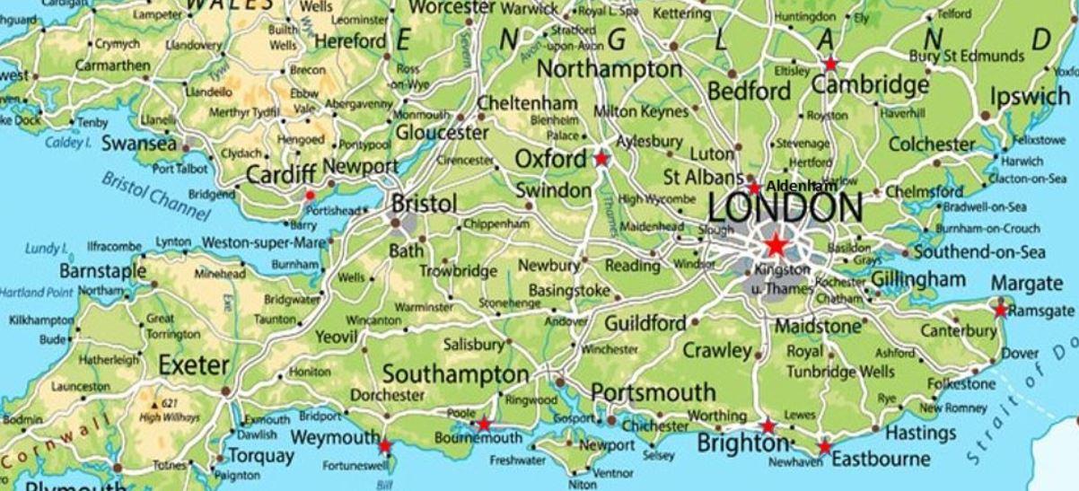 In England gibt es eine große Auswahl von Städten zum Aussuchen